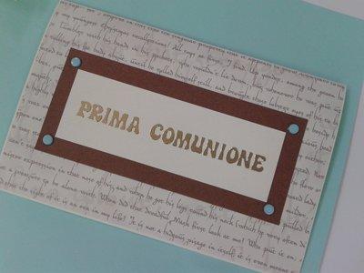 BIGLIETTO RICORDO PRIMA COMUNIONE