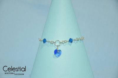 Bracciale con cuore swarovski - Sapphire