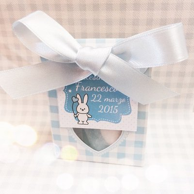 scatolina porta confetti baby rosa o azzurro