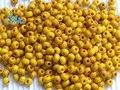 lotto perline legno gialle