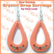 Orecchini pendente goccia con cristalli Swarovski