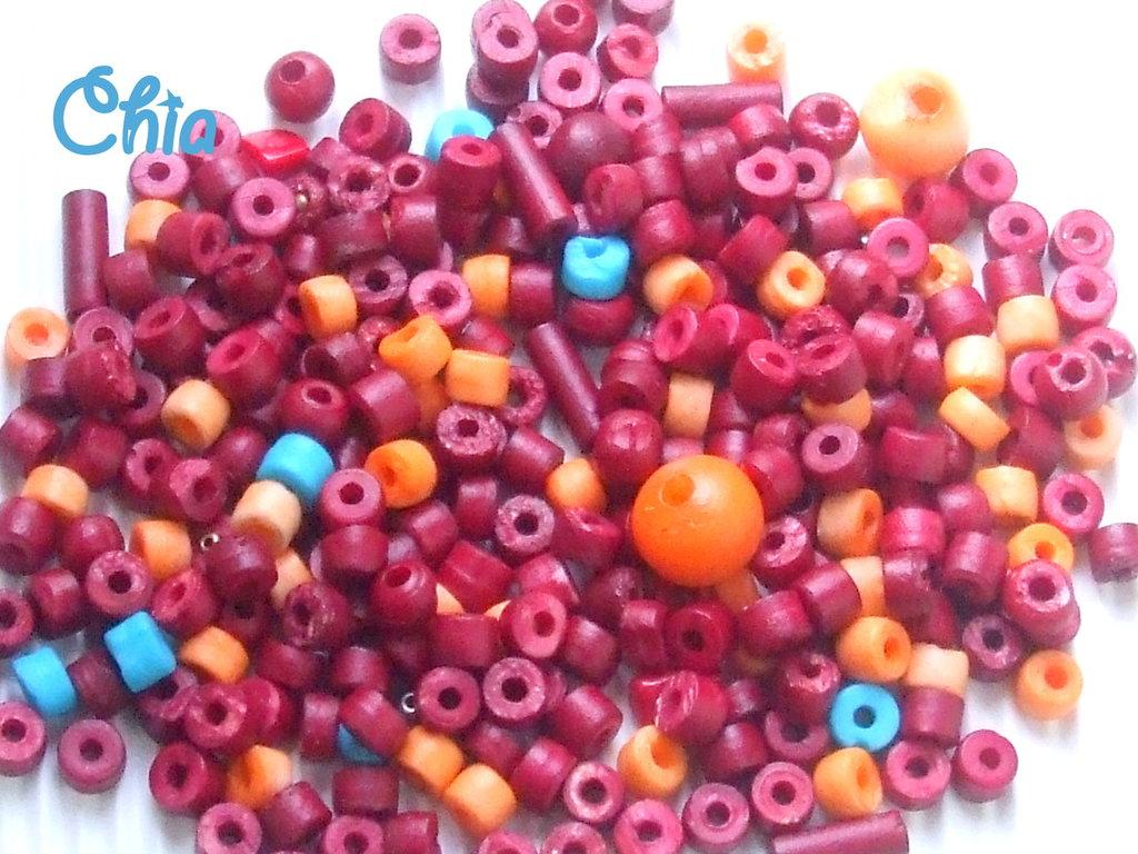 offerta perline resina bordeaux + altri colori