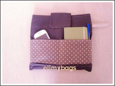Borsa porta tablet smartphone e agenda di stoffa handmade*