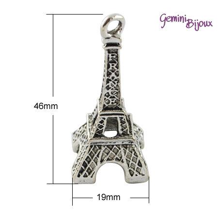 Charm Tour Eiffel grande argentato 46x19