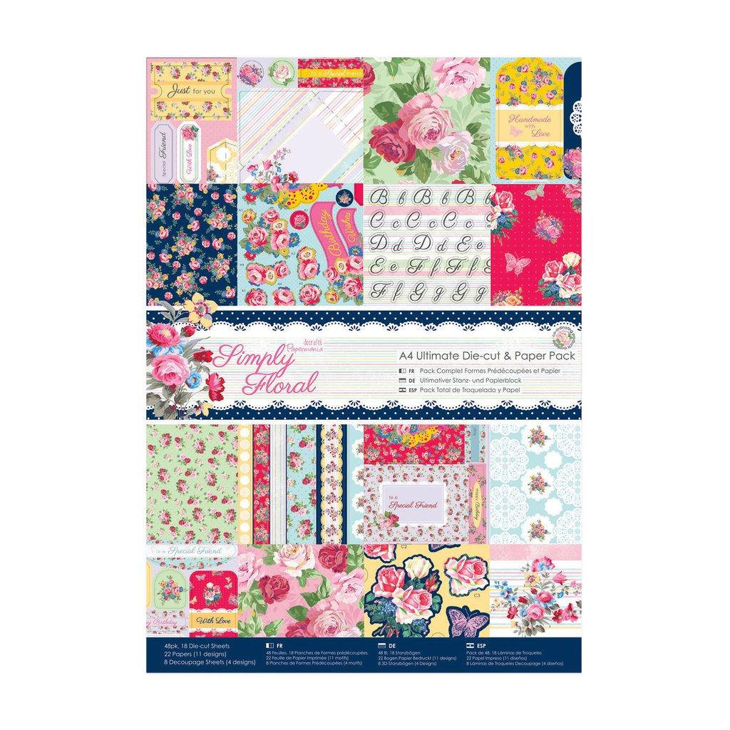 Blocco carta A4 + Die-cut - Simply Floral
