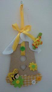 Casetta in wood-art decorata in feltro - Pasqua