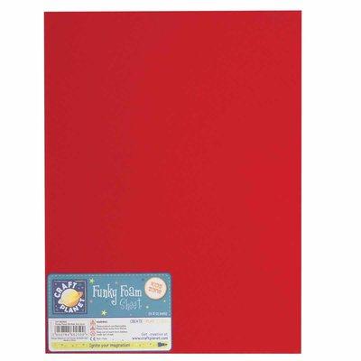 Foglio gomma crepla 23x30 cm - Rosso