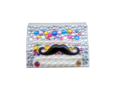 Portalenti a contatto luxury strass multicolor fashion idea regalo donna - PEZZO UNICO!