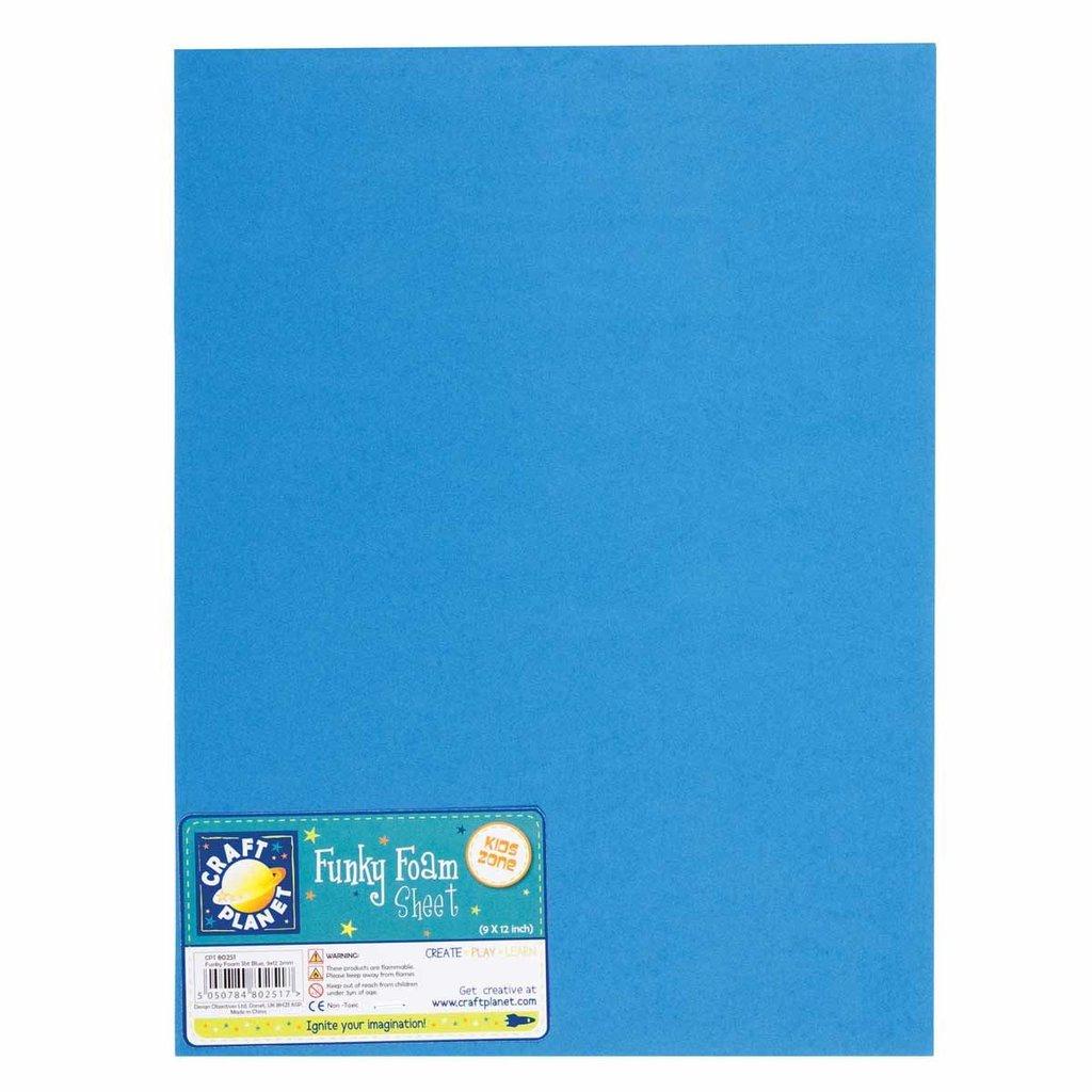 Foglio gomma crepla 23x30 cm - Blu