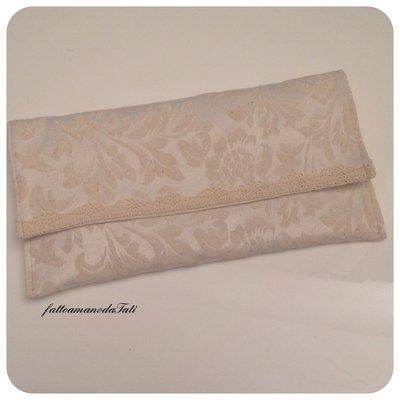 INSERZIONE RISERVATA PER VALENTINA Portatovagliolo/posate con tovaglietta in cotone tinta naturale