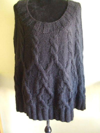 poncio mantella maglione lana magla donna