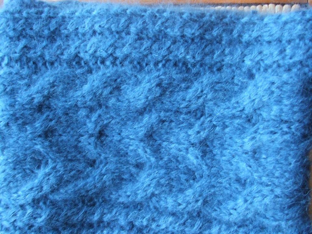 sciarpa lana maglia ad anello donna