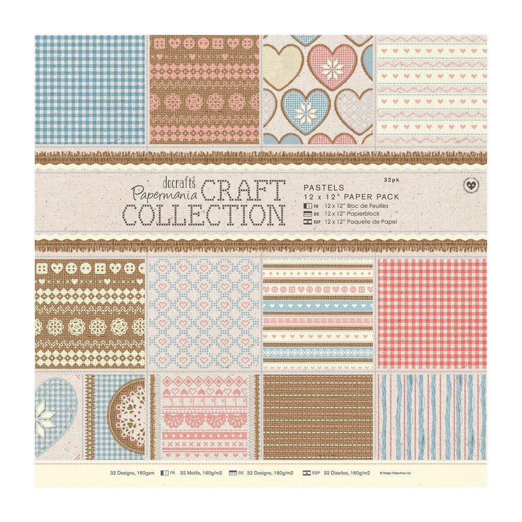 Blocco di carta 30x30 cm - Craft Collection Pastels