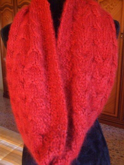 sciarpa anello lana maglia