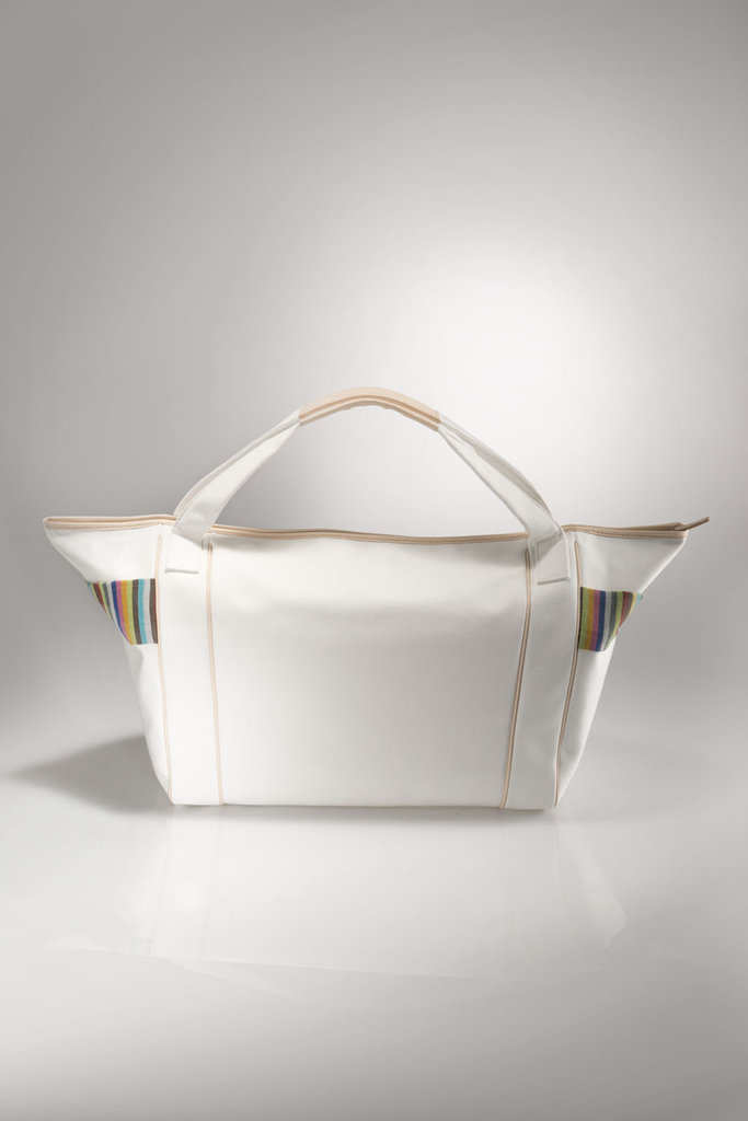 Borsa Shopper GAIA - BIANCA - finiture in pelle FIRENZE