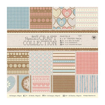 Blocco di carta 15x15 cm - Craft Collection Pastels