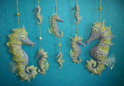 Ghirlanda decorativa Cavallucci marini Famiglia