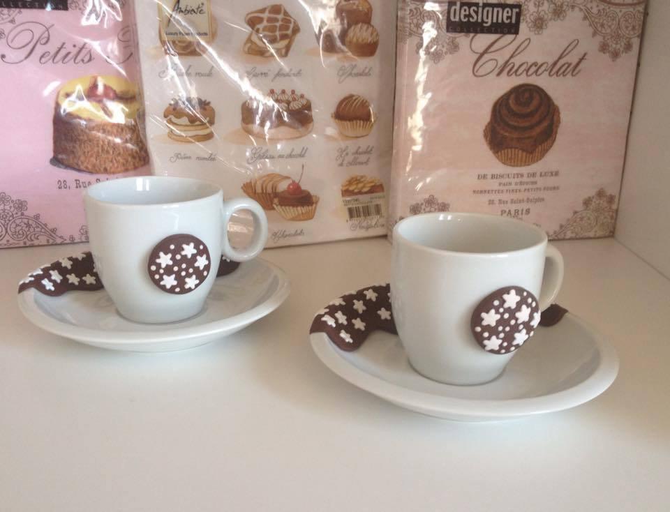 Set di tazzine da caffè con decorazione Pan di Stelle