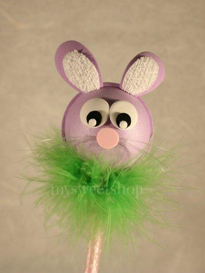 Penna guestbook decorata con coniglio viola