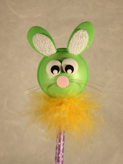 Penna guestbook decorata con coniglio verde