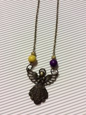 collana angelo in bronzo