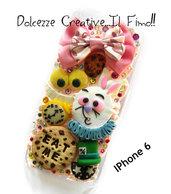 Cover IPhone 6 /6s Alice in the Wonderland -  Alice nel paese delle meraviglie, biscotti, eat me, stregatto, cappellaio matto, biscotti, orologio