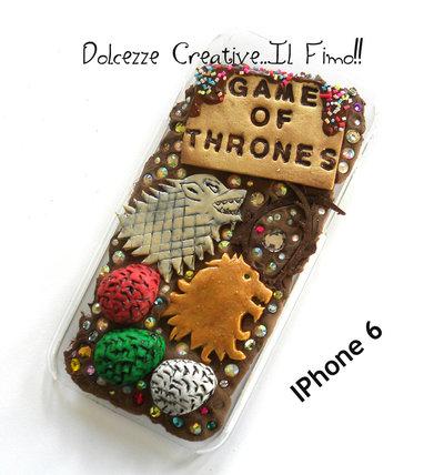 Cover IPhone 6 /6s Game of Thrones - il trono di spade - Stark - Lannister - Baratheon - Targaryen - Lannister idea regalo miniature kawaii Uova Daenerys