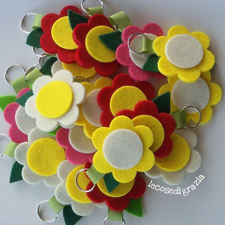 portachiavi fiori colorati