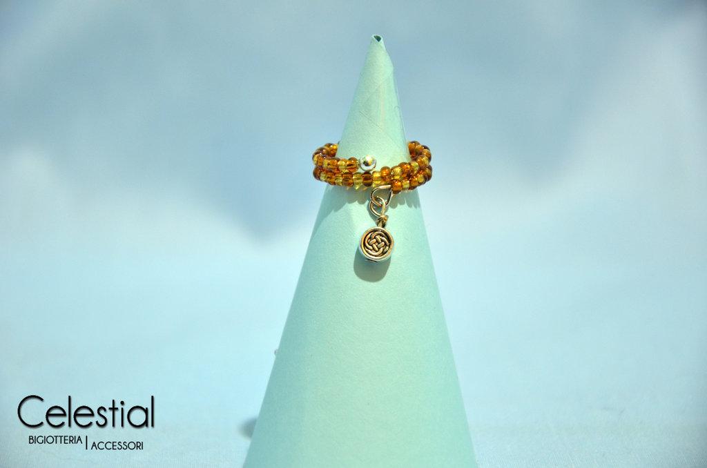 Anello molla bronzo/oro con cerchio
