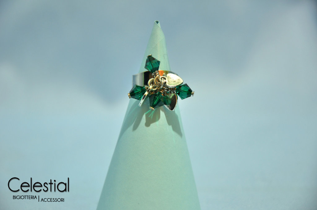 Anello con Biconi - Emerald
