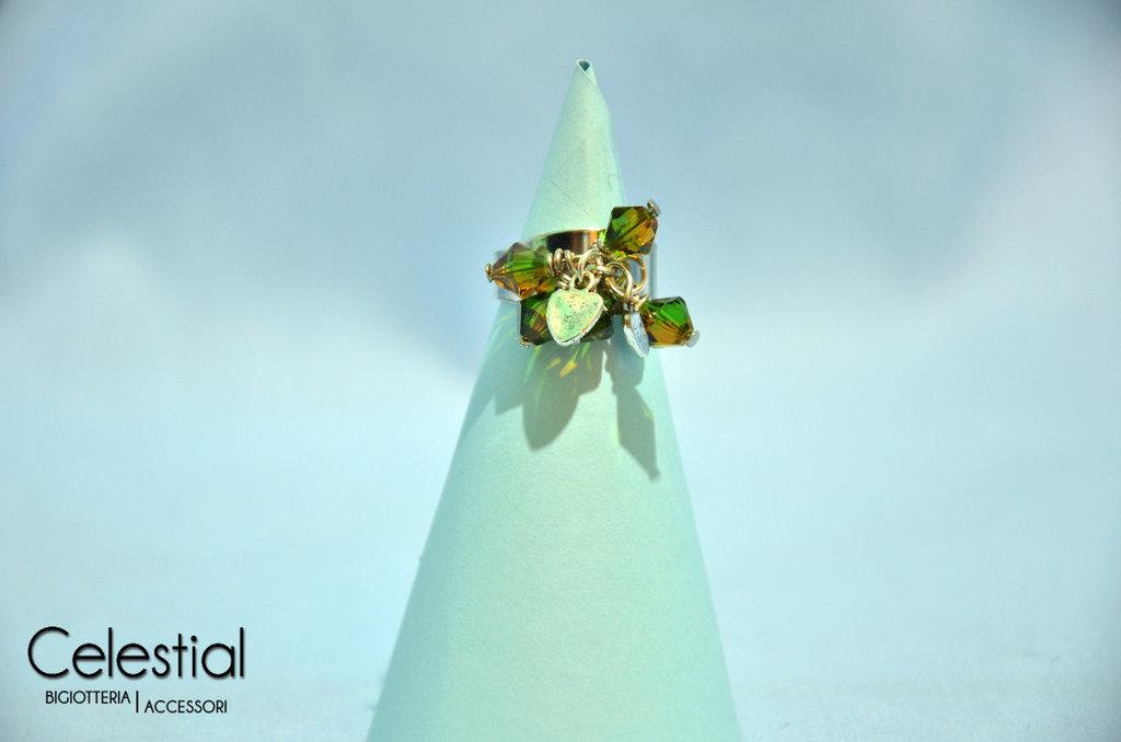 Anello con Biconi - Verde Mela