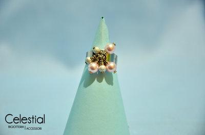 Anello con Perle - Powder Rose