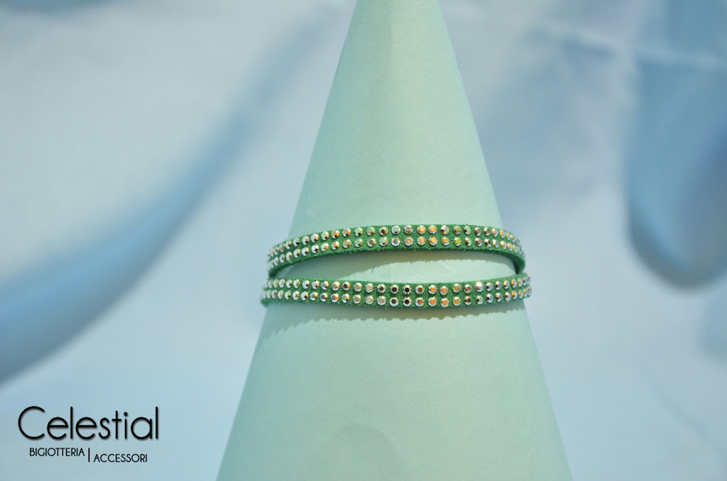 Bracciale strass - Verde
