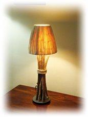 SILHOUETTE lampada con legni di mare