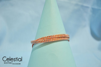 Bracciale strass - Arancione