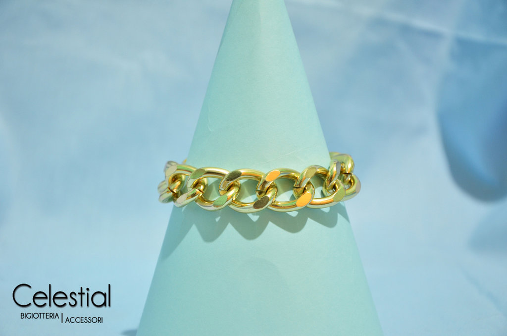 Bracciale catena dorata