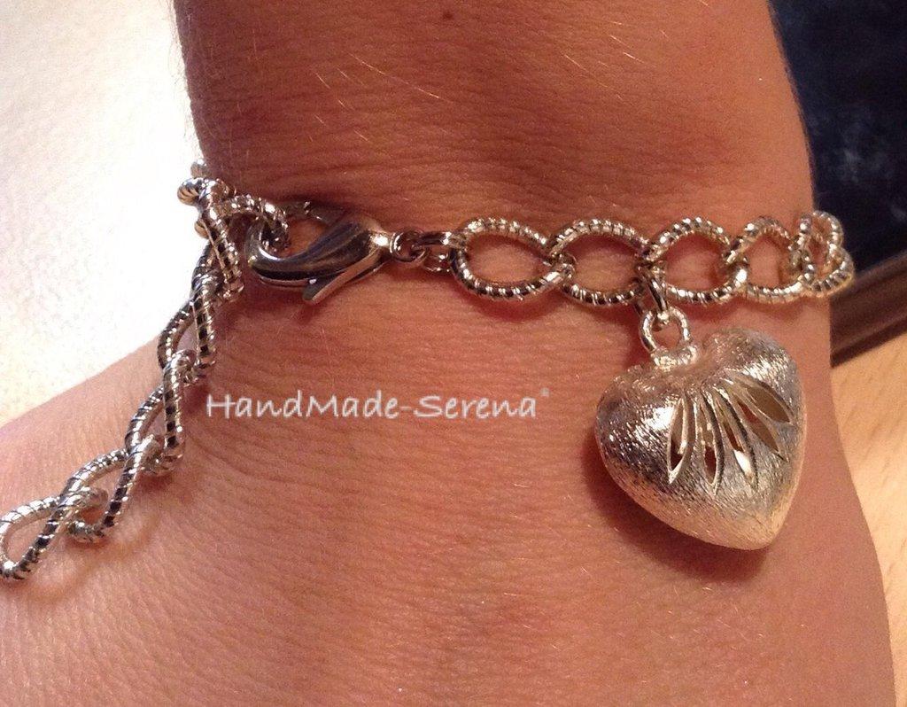 Braccialetto donna con catena e cuore