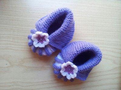 scarpette a maglia da bambina