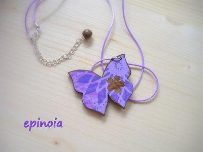 Collana Farfalla lilla