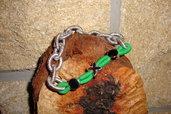 bracciale maglia tipo argento verde