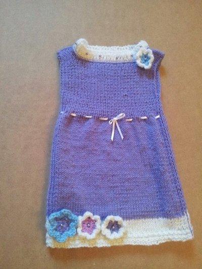 abitino lilla a maglia rasa da bambina 0,5-1 anno