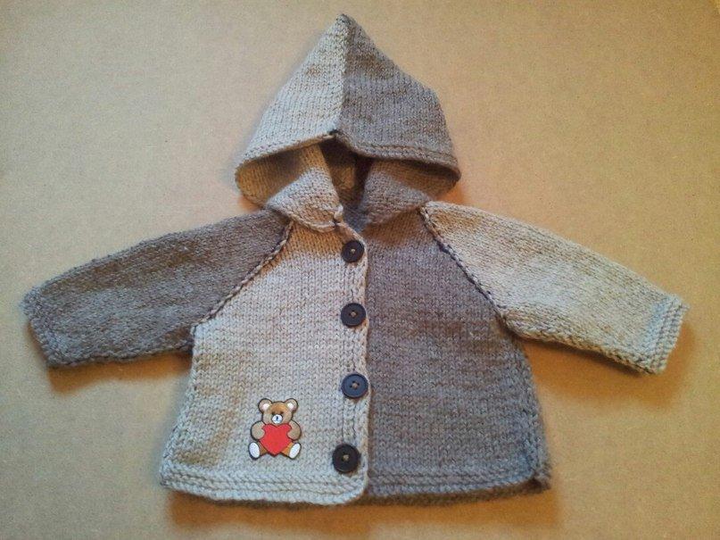 maglioncino con cappuccio da bambino 0,5-1 anno misto lana