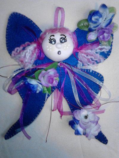Farfalla decorativa in pannolenci idea regalo