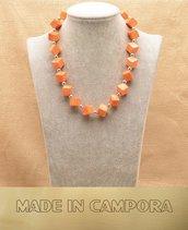 Collana in corallo arancione