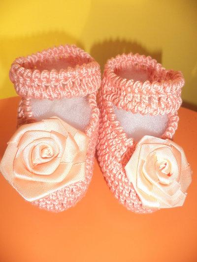 scarpine neonata in cotone