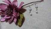 Orecchini perline acriliche bianche