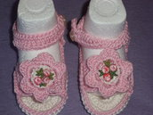 sandaletti cotone neonata