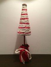 Centrotavola albero di Natale rosso