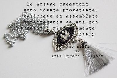 fama mondiale seleziona per il più recente prezzi Collana HASHTAG con nappina argento by Arte Ricamo & Bijoux