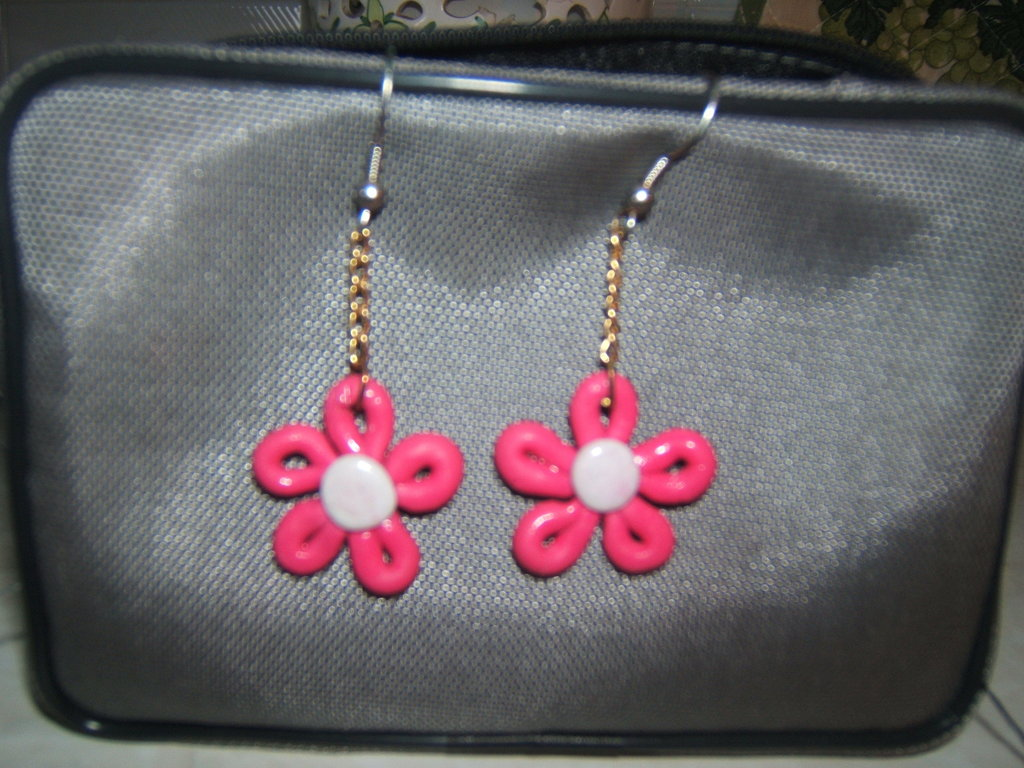 Orecchini fiore pendente